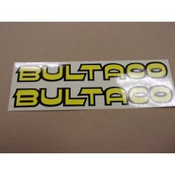 bultaco paire d'autocollant de reservoir gris ou jaune 220 mm x29 mm