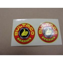 bultaco jeu de 2 autocollants rouge et jaune