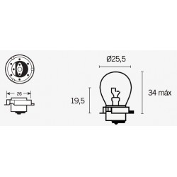 ampoule a collerette type cyclo  12 volts