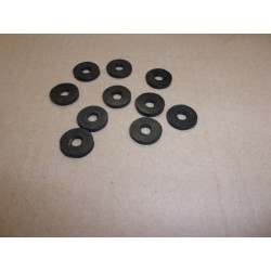 jeu de 10 rondelles caoutchouc 6x1.7 mm