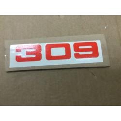 montesa autocollant de plaque phare cota 309