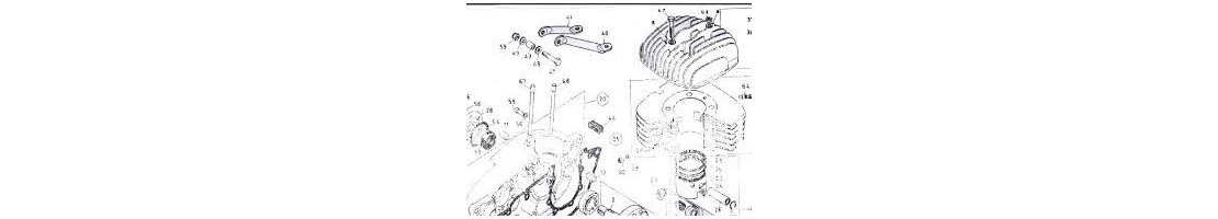 Haut Moteur/ pistons/cylindres/clips pistons/axes /joints
